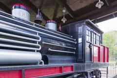 Railroading en canyon espagnol de fourchette Photo stock