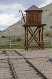 Railroading in Spanish Fork Canyon Royalty Free Stock Image