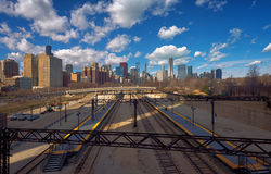 The Railroads, Chicago, illinois, USA Royalty Free Stock Images