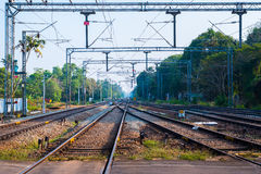 Railroads of Indian Railways. In Alleppey, Kerala, India Royalty Free Stock Images
