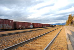 Railroads in Whitefish station 3 Royalty Free Stock Photo