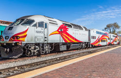Railrunner,圣菲,新墨西哥 免版税库存照片