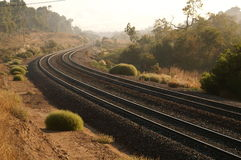 Rails. Train tracks in a Southern California Canyon Stock Photography