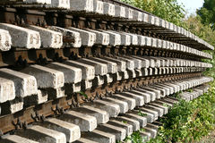 Rails. Old rusty rails and sleepers Royalty Free Stock Photography