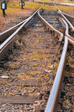 Rails. In southern part of Poland Royalty Free Stock Image