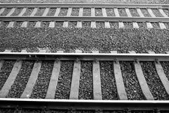Rails. Black and white. Royalty Free Stock Image