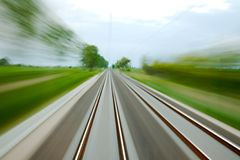 Rails blur Stock Photography