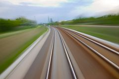 Rails blur Royalty Free Stock Images