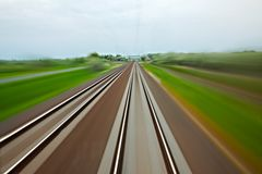 Rails blur Royalty Free Stock Photos