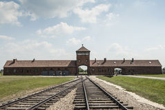 Rails of the concentration camp of birkenau poland europe Royalty Free Stock Images