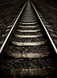 Rails and concrete sleepers Stock Image