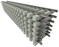 Rails with concrete sleepers royalty free stock photos