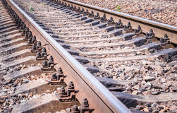 Rails and concrete sleepers Royalty Free Stock Photography