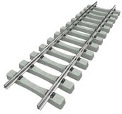 Rails with concrete sleepers royalty free stock photo