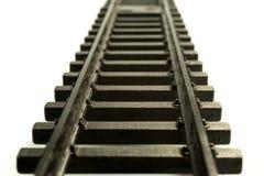 Rails d'un train Photographie stock