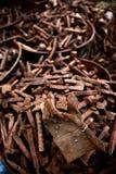 Rails de cheville Image stock