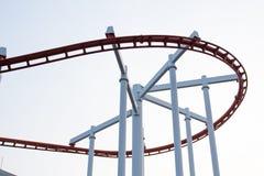 Rails de montagnes russes Photo stock