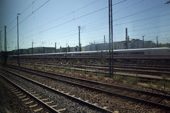 Rails de train Images libres de droits