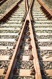 Rails de train Photo libre de droits