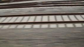 Rails. Detail from Turkey TCDD stock video footage