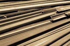 Rails de train démantelés Images stock
