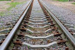 Rails escape afar Royalty Free Stock Photo