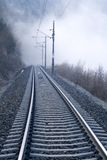 Rails into Fog Stock Photography