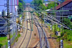 Rails in Germany royalty free stock photos