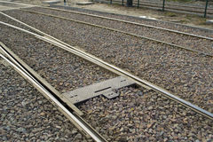 Rails in gravel bed Stock Photography