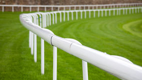 Rails at a horse race track Royalty Free Stock Images
