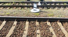 rails järnväg sleepers Arkivfoton