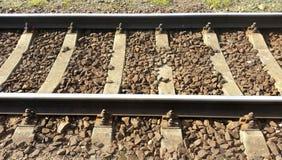 rails järnväg sleepers Royaltyfri Foto