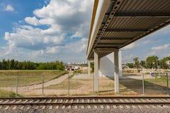 rails järnväg sleepers Royaltyfri Fotografi