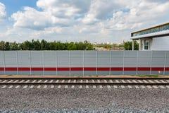 rails järnväg sleepers Royaltyfria Bilder
