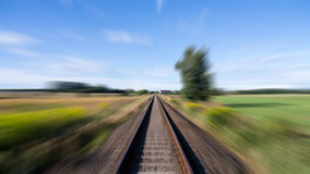 Rails in landscape Stock Photo