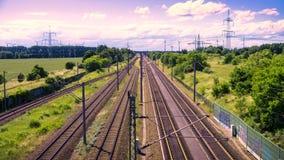 Rails in landscape Stock Photo