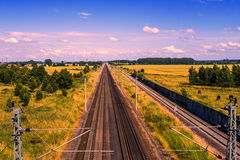 Rails in landscape Stock Photography