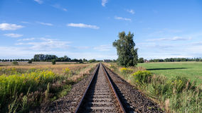 Rails in landscape Stock Photos