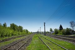 Rails to somewhere Royalty Free Stock Image