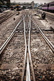 Rails made of sturdy steel Stock Images