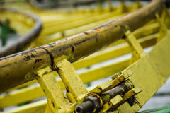 Rails of merry-go-rounds. Details of fastening of rails of merry-go-rounds Stock Photography