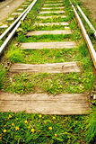 Rails out of order Royalty Free Stock Photo