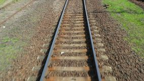 Railway journey POV stock video footage