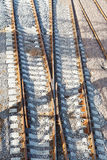 Rails on railroad Royalty Free Stock Images