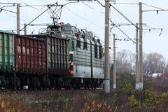 Rails railroad tracks autmn landscape Stock Image