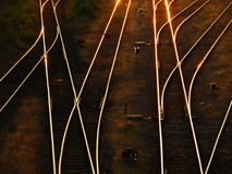 Rails / railway. Prospect of a railroad / railway branching Royalty Free Stock Photos