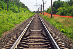 Rails of the railway Stock Photography