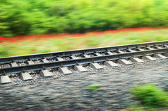 Rails of the railway Royalty Free Stock Images