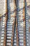 Rails on railway Stock Images
