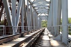 Rails of the railway way Stock Photo